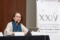 """Susana Lizano Soberón, vicepresidenta de la AMC, en su  participación en la mesa  """"Acciones propositivas en ciencia y género""""."""
