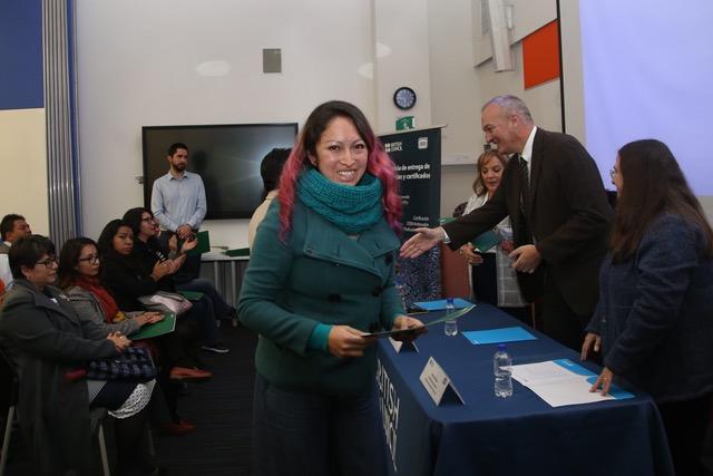 La ceremonia de certificación académica fue realizada en el auditorio del British Council.