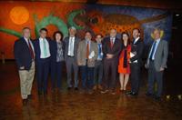 Representantes del Conacyt, de la Coordinación de Ciencia, Tecnología e Innovación de la Oficina de la Presidencia, de la Academia Mexicana de Ciencias, así como de la Max Planck Society y de la Embajada de Alemania en México.