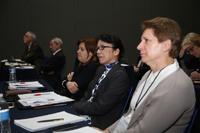 Aspecto del taller en el que participaron académicos e investigadoras de distintos países para intercambiar  ideas y debatir sobre la situación actual de la movilidad de mujeres en la investigación de campo.