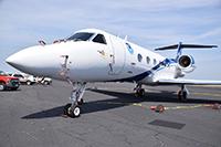 Un jet Gulfstreamque, de la flota de investigación de la NOAA.