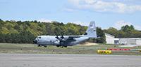 Avión de la fuerza área de Estados Unidos (el WC-130J, tipo Hércules).