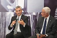 José Mustre de León, director general del Cinvestav y Luis Miguel Gutiérrez Robledo, director general del INGER.