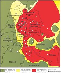 Distribución de las estaciones de la RACM.