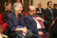 La Dra. Julieta Fierro y el Dr. Jorge Flores, expresidente de la AMC,  ambos integrantes del  jurado.