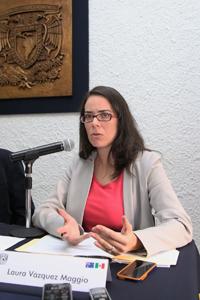 Doctora Laura Vázquez Maggio, profesora de la Facultad de Economía de la UNAM.