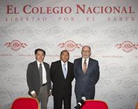 Firman convenio de colaboración ECN y SIIES de Yucatán. Los doctores Jaime Urrutia, Raúl Humberto Godoy Montañez y José Ramón Cossío Diaz.