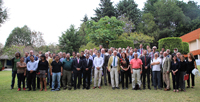 Participantes del Congreso Internacional de Matemáticas, que abrió las actividades de la nueva Unidad Mixta Internacional Laboratorio