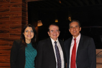 En la imagen: Jaime Parada, presidente de la Academia de Ingeniería de México (centro); Carmen Rodríguez, coordinadora general del Encuentro Nacional de Jóvenes en la Ingeniería; y Manuel Quintero, director general del Tecnológico Nacional de México.