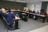 Los integrantes del Comité Ejecutivo de IANAS en reunión de trabajo.