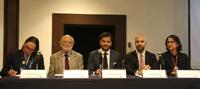 Dolores Barrientos, José Sarukhán, Juan Rafael Pacchiano, Adolfo Ayuso Audry y Sol Ortiz, en la inauguración del taller Estrategia Nacional sobre Biodiversidad de México (ENBioMex) y Plan de Acción 2016-2030.