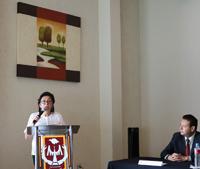 Margarita Martínez Gómez, de la unidad foránea Tlaxcala del Instituto de Investigaciones Biomédicas (IIBO) de la UNAM y actual presidenta de la Sección Regional Centro-Sur de la AMC.