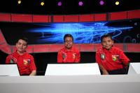 Equipo rojo, medalla de plata: Ilhuicamina Robledo Muñoz (Aguascalientes), David García Maldonado (Oaxaca) y Fernando Álvarez Ruiz (Nuevo León).