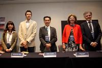 Inauguraron el Taller de variabilidad, cambio climático-océanos: Ligia Pérez Cruz, Alessandro Rizzo, Jaime Urrutia, Sonia Rose y Jean Joninville Vacher.