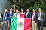 De izquierda a derecha: Eleazar Neri, profesor-mentor; Oliver García, de Nuevo León; Daniel  Marín, del Estado de México; Valeria García, de Sinaloa; Oscar Guardado, de Nuevo León; Rubén Rodríguez, Baja California; y Rodrigo Pelayo, profesor-mentor.