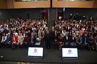 Encuentro de Catedráticos Conacyt 2018, celebrado en el auditorio de la Academia Mexicana de Ciencias.